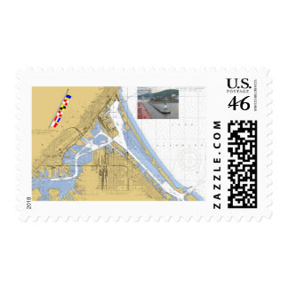 Duluth MN Harbor Chart Signal Flags ship Stamp