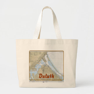 Duluth MN harbor chart tote bag