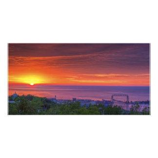 Duluth Sunrise Custom Photo Card