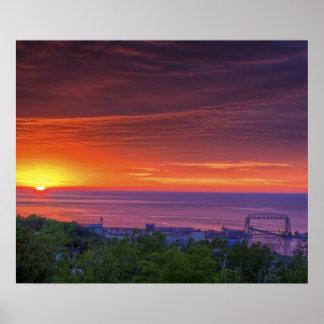 Duluth Sunrise Poster