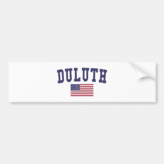 Duluth US Flag Bumper Sticker