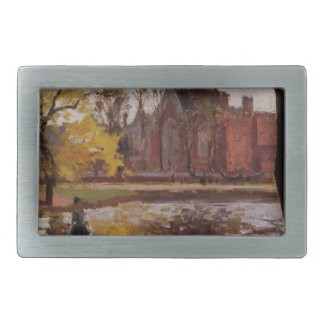Dulwich College, London by Camille Pissarro Rectangular Belt Buckle