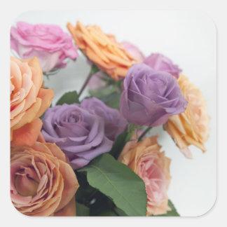 Dulzor floral pegatina cuadrada