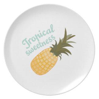 Dulzor tropical plato