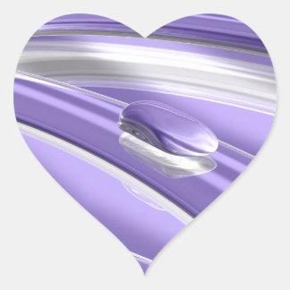 Dulzura de Pourple Pegatina En Forma De Corazón