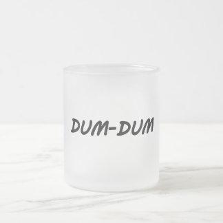 Dum-Dum Frosted Glass Coffee Mug