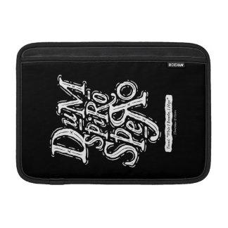 Dum Spiro Spero - caja del aire de Macbook - negro Funda MacBook