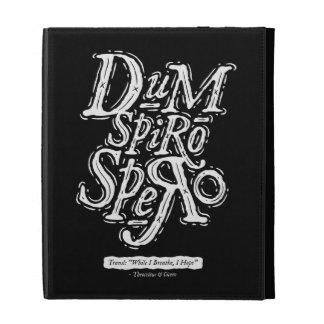 Dum Spiro Spero - caja del folio del iPad - negro
