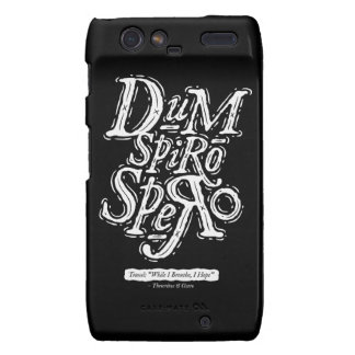 Dum Spiro Spero - caso de Motorola Razr - negro Droid RAZR Carcasas