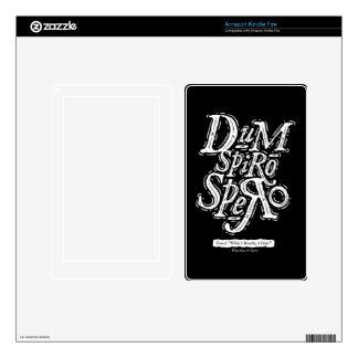Dum Spiro Spero - encienda la piel del fuego - neg Kindle Fire Pegatina Skin