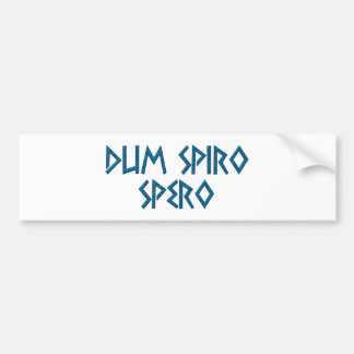 dum spiro spero latín latin pegatina de parachoque