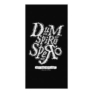 Dum Spiro Spero - Photocard - negro Tarjetas Fotográficas Personalizadas
