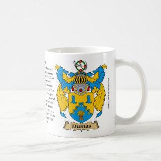 Dumas, el origen, el significado y el escudo taza