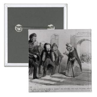 Dumas, Hugo et Balzac seeking their admission Button