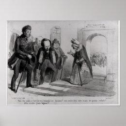 Dumas, Hugo et Balzac seeking their admission Poster