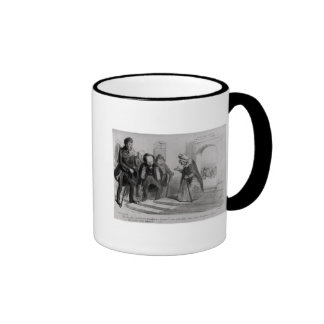 Dumas, Hugo et Balzac seeking their admission Ringer Mug