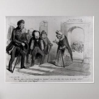 Dumas, Hugo y Balzac buscando su admisión Poster