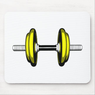 Dumb Blonde Dumbbell Mouse Pads
