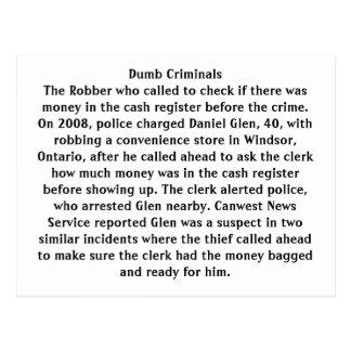 Dumb Criminals Postcard