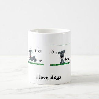 Dumb Dog Classic White Coffee Mug