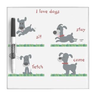 Dumb Dog Dry-Erase Boards