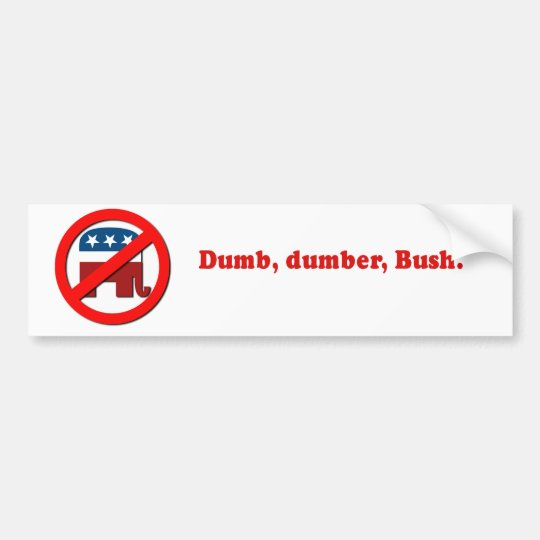 Dumb Dumber Bumper Sticker