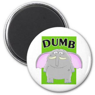 Dumb elephant cartoon magnet
