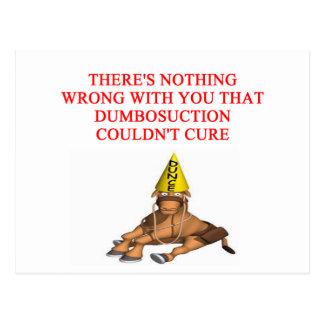 DUMB insult Postcard