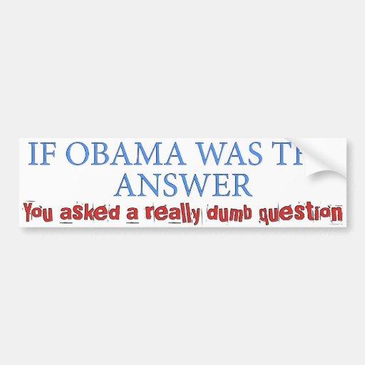 Dumb Question Car Bumper Sticker