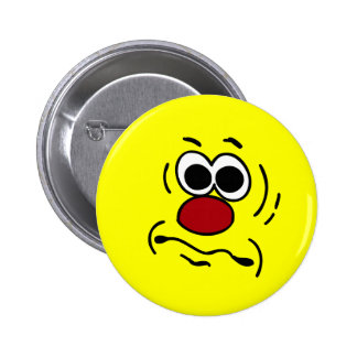 Dumb Smiley Face Grumpey Button