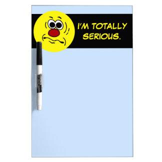 Dumb Smiley Face Grumpey Dry-Erase Board