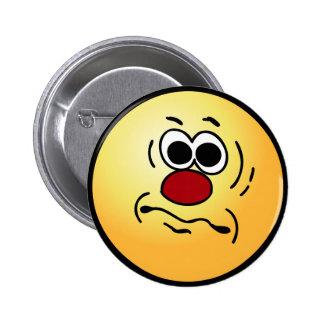 Dumb Smiley Face Grumpey Pinback Button