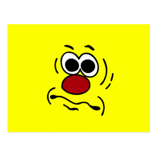 Dumb Smiley Face Grumpey Postcard