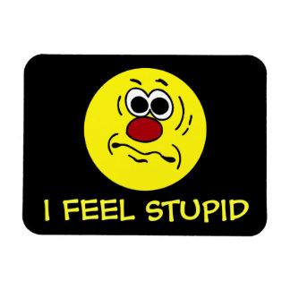 Dumb Smiley Face Grumpey Rectangular Magnets