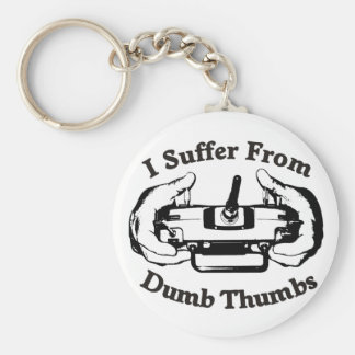 Dumb Thumbs Basic Round Button Keychain