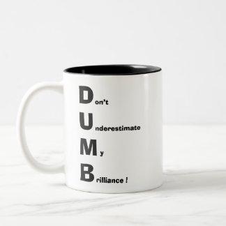 DUMB Two-Tone COFFEE MUG