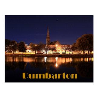 Dumbarton  at Night Postcard
