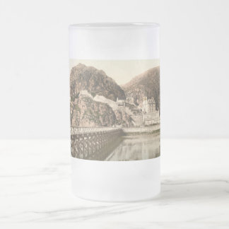 Dumbarton Castle, Dumbartonshire, Scotland Frosted Glass Beer Mug
