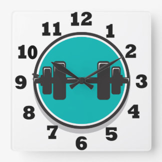 Dumbbell Square Wall Clock