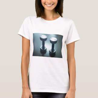 Dumbbell gym metal weights in gym health club T-Shirt