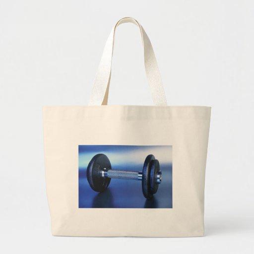 Dumbbell Jumbo Tote Bag