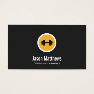 Dumbbell Logo, Personal Trainer, Fitness Gym 2 Business Card