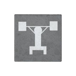 Dumbbell Men Sign Stone Magnet