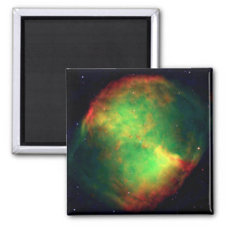 Dumbbell Nebula Constellation Vulpecula, The Fox 2 Inch Square Magnet