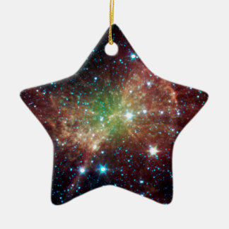 Dumbbell Nebula Double-Sided Star Ceramic Christmas Ornament