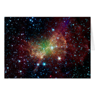 Dumbbell Nebula Infrared Space Card