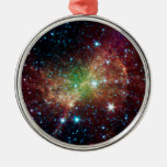 Dumbbell Nebula Infrared Space Christmas Ornament