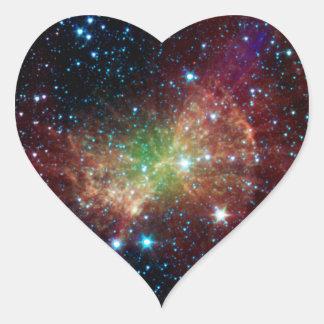 Dumbbell Nebula Infrared Space Heart Sticker