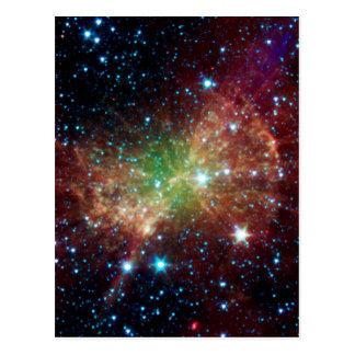 Dumbbell Nebula Infrared Space Postcard