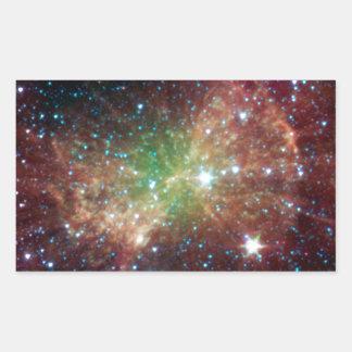 Dumbbell Nebula Rectangular Sticker